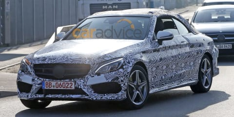 2016 Mercedes-Benz C-Class cabriolet spied nearing production