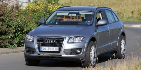 Audi Q6 mule spy photos