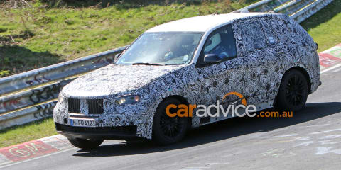 2017 BMW X3 spied testing at the Nurburgring