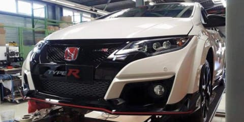 Honda Civic Type R photographed undisguised before debut