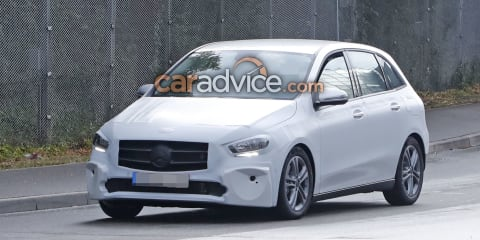 2019 Mercedes-Benz B-Class spied with less camouflage