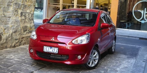 2015 Mitsubishi Mirage hatchback prices cut :: New entry-point set at $11,490
