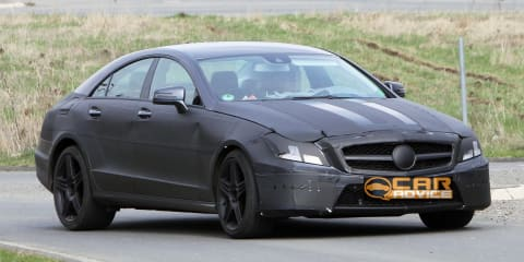 2011 Mercedes-Benz CLS AMG spy photos
