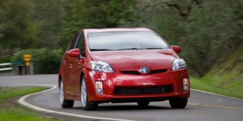 Toyota Prius available with Approaching Vehicle Audible System in Japan