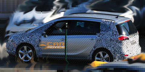 2012 Opel Zafira spy shots with less camouflaging