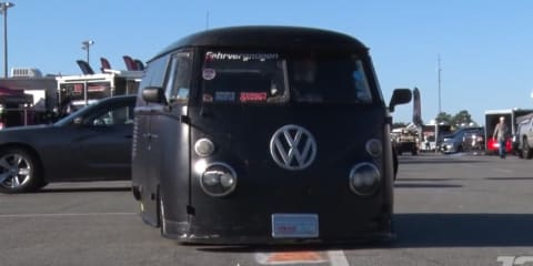 Video: This stealthy big-block VW Bus is a daily driver!