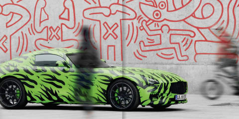 Mercedes-AMG GT photographed in camouflage for AMG magazine