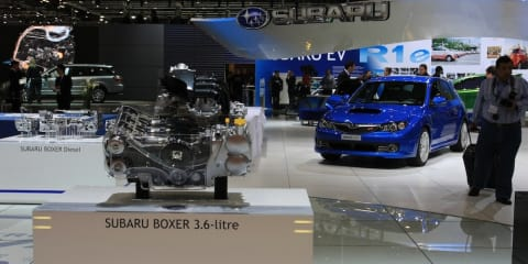 Subaru stand 2008 Geneva Motor Show
