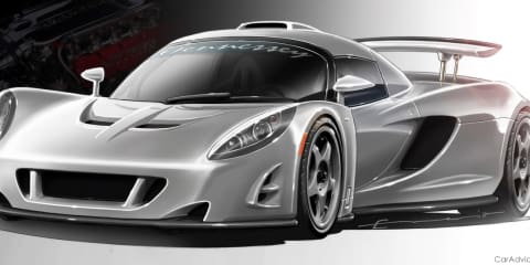 Hennessey Venom GT supercar - video