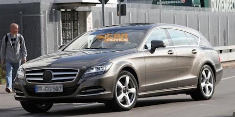 2012 Mercedes-Benz CLS Shooting Brake spy shots