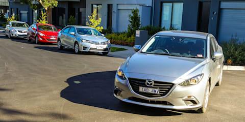Small Car Comparison : Toyota Corolla v Mazda 3 v Holden Cruze v Hyundai Elantra