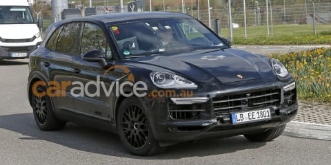 2018 Porsche Cayenne spied inside and out