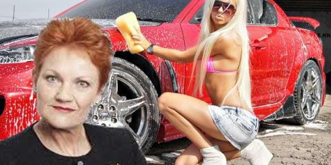 Pauline Hanson: Australia's New Bikini Car Wash Sensation