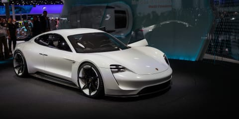 Porsche Mission E studio video tours the design phase
