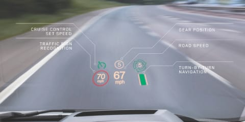 Range Rover Evoque gains world-first laser head-up display