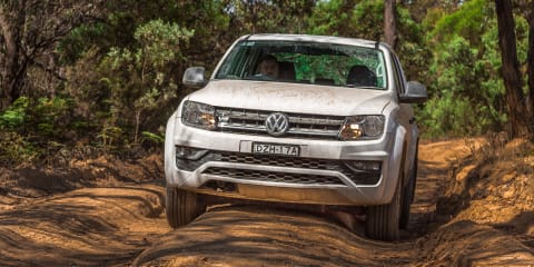 2019 Toyota HiLux SR5 v Volkswagen Amarok Core V6 comparison: Off-road