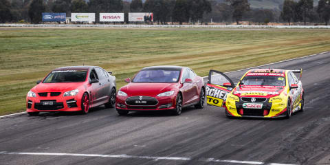 Drag race :: Model S P85D v V8 Supercar v Walkinshaw W507