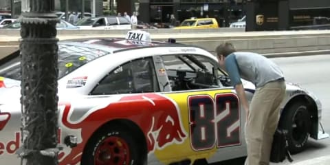 Video: Red Bull NASCAR driven as taxi in Chicago