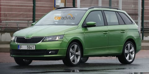 2015 Skoda Fabia Wagon spied with minimal camouflage