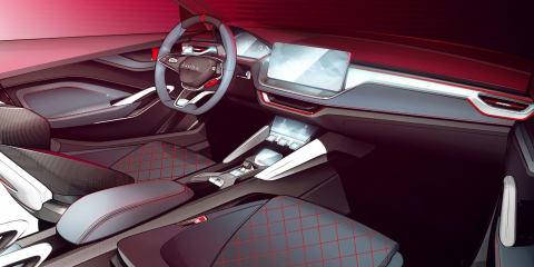 Skoda Vision RS Concept interior teased