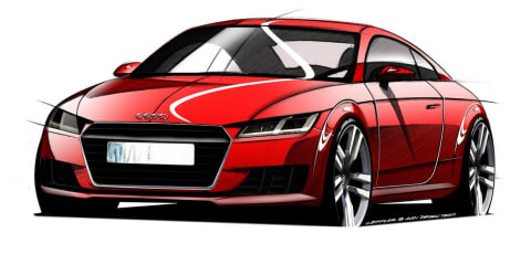 2015 Audi TT : Sketches reveal evolutionary styling for new coupe