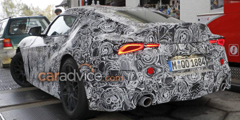 2019 Toyota Supra spied with production tail-lights