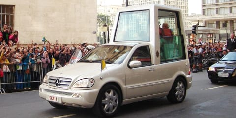 Pope gets Mercedes-Benz M-Class plug-in hybrid