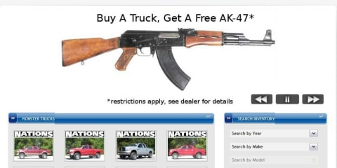 Florida dealer gives away an AK-47 with every truck sold