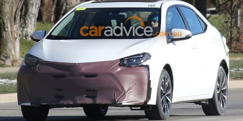 2017 Toyota Corolla sedan spied testing in the US