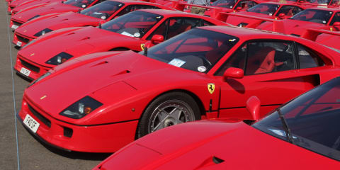 Ferrari F40: world record set at Silverstone