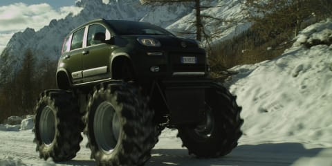 Fiat Panda 4x4 turns monster truck