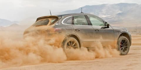 Porsche Macan: luxury SUV teased tackling mud and desert