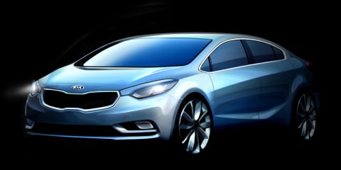 Kia Cerato: official sketches of new small sedan