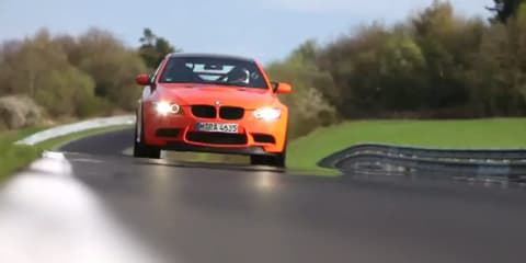 BMW M3 GTS lapping the Nurburgring