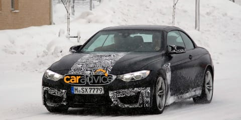 BMW M4 Convertible : drop-top sports car spied
