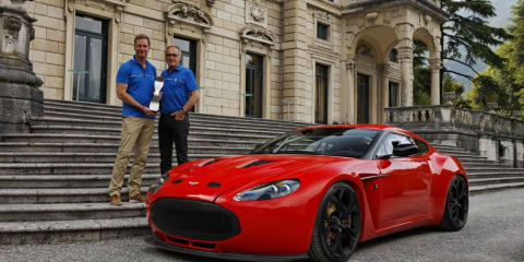 Aston Martin V12 Zagato wins the Concorso d'Eleganza Design Award