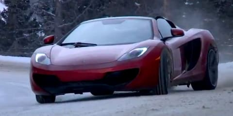 McLaren P1 tackles Top Gear track, MP4-12C Spider slides in snow
