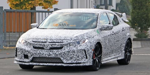 2017 Honda Civic Type R spy photos