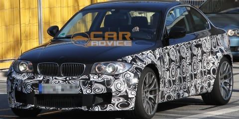 BMW 1 Series Coupe M version spied