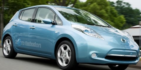 Nissan unveils LEAF zero-emission vehicle