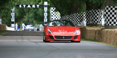Ferrari debuts 458 and 599 GTO at Goodwood 2010
