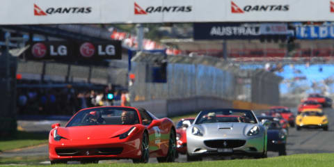 Ferrari 458 Spider debuts at Melbourne Grand Prix