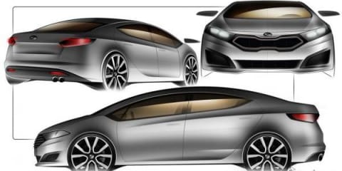 New Kia Cerato sedan unofficial sketches