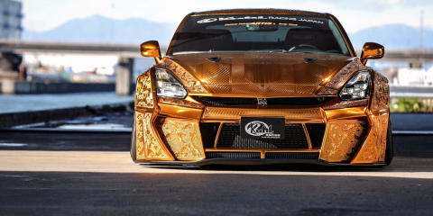 Godzilla gets golden armour: This glittery GT-R makeover took 2000 hours