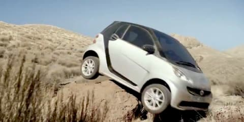 Smart ForTwo goes off-road, gets stuck in new ad