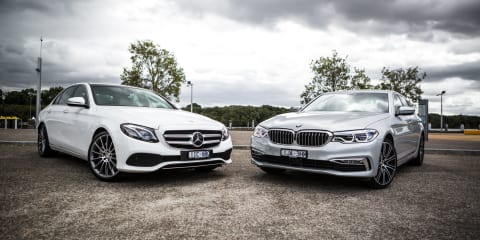 2017 BMW 530i vs Mercedes-Benz E300 sedan comparison