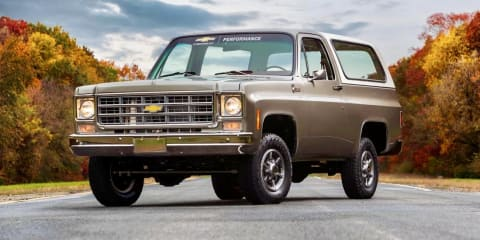 Chevrolet Blazer restored with GM's electric crate motor