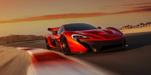 McLaren P1 shot in Bahrain to celebrate showroom launch