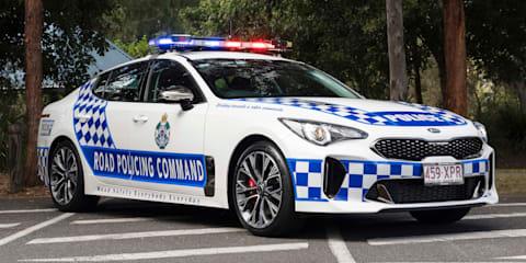 Queensland Police Kia Stinger on US tour