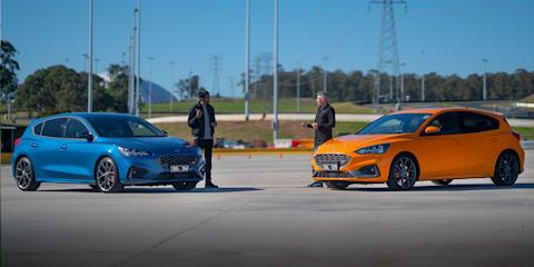 2020 Ford Focus ST manual v automatic motorkhana comparison